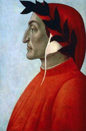 Portrait of Dante, undated by Botticelli | Painting Reproduction