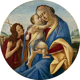 Virgin and Child with the Young John the Baptist, c.1490 by Botticelli | Painting Reproduction