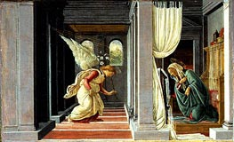 The Annunciation, c.1485 by Botticelli | Painting Reproduction