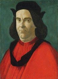 Portrait of Lorenzo de' Lorenzi, c.1492 by Botticelli | Painting Reproduction