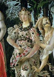Detail of Flora as the Hour of Spring, from the Primavera, c.1482 by Botticelli | Painting Reproduction
