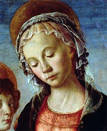 Madonna and Child (Detail), c.1470 by Botticelli | Painting Reproduction