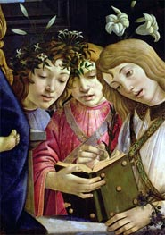 Madonna and Child with the Young St. John the Baptist and Angels (Detail), Undated by Botticelli | Painting Reproduction