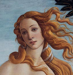 Venus Head - Detail from The Birth of Venus, c.1485 by Botticelli | Painting Reproduction