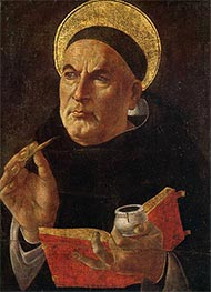St. Thomas Aquinas, c.1480/85 by Botticelli | Painting Reproduction
