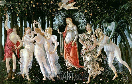 Primavera, c.1482 | Botticelli| Painting Reproduction