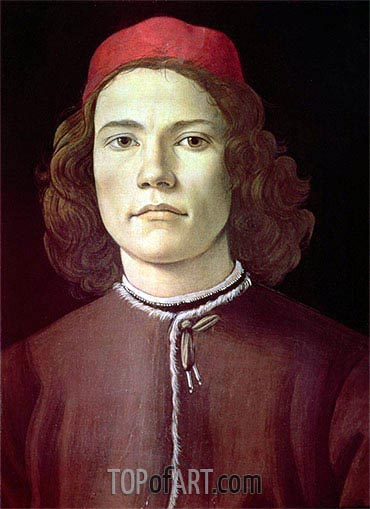 Portrait of a Young Man, c.1480/85 | Botticelli| Painting Reproduction