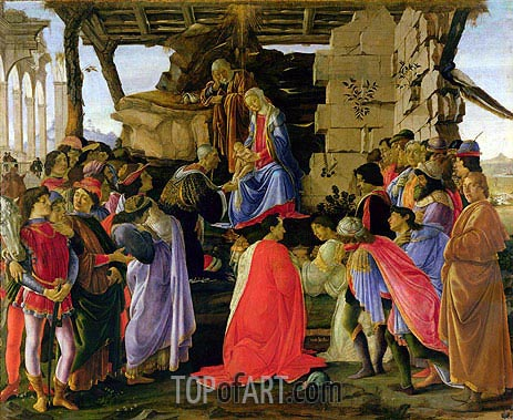 The Adoration of the Magi, c.1476 | Botticelli| Painting Reproduction