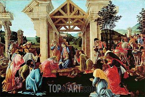 The Adoration of the Magi, c.1478/82 | Botticelli | Gemälde Reproduktion