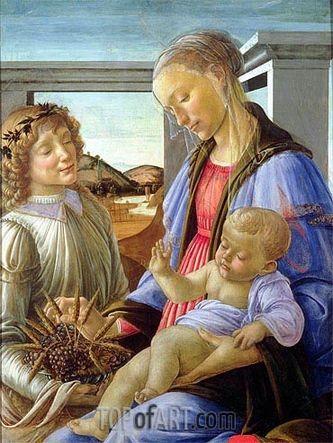 Botticelli | Madonna and Child with Angel, c.1472/75
