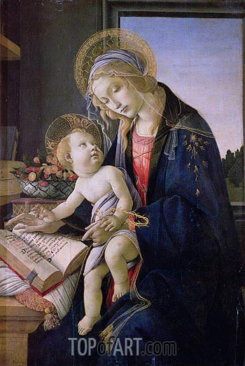 Madonna with the Book, 1483 | Botticelli | Gemälde Reproduktion