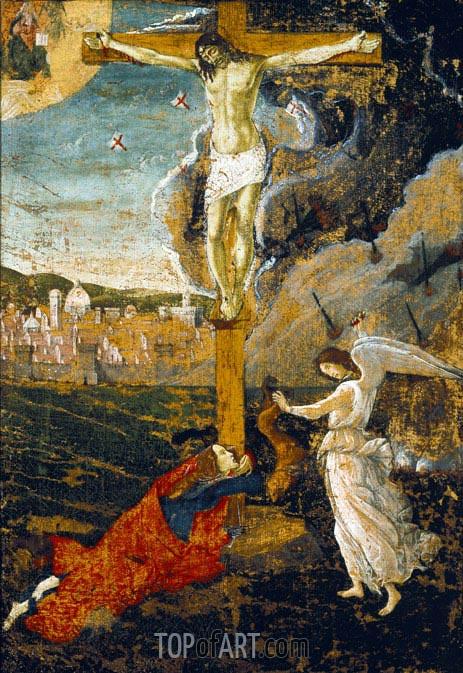 Mystic Crucifixion, c.1500 | Botticelli | Gemälde Reproduktion
