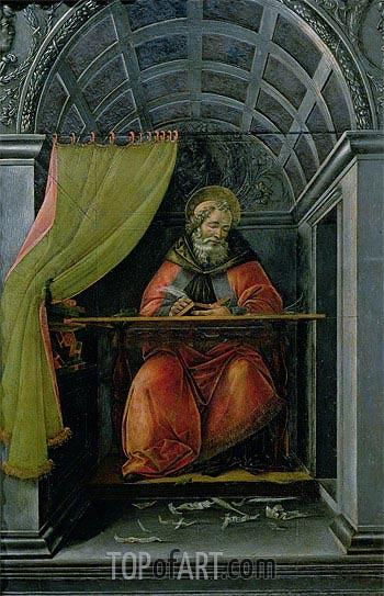 Saint Augustine in his Cell, 1490 | Botticelli| Painting Reproduction