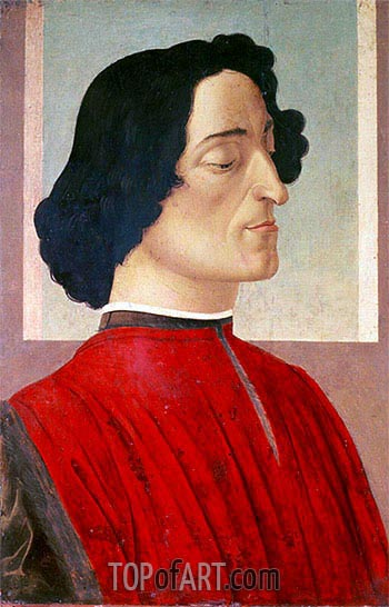 Portrait of Giuliano de' Medici, c.1480 | Botticelli| Painting Reproduction