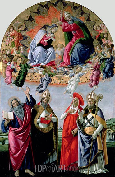 Botticelli | The Coronation of the Virgin (Altarpiece of St Mark), c.1480