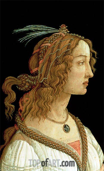 Portrait of a Young Woman, 1485 | Botticelli| Painting Reproduction
