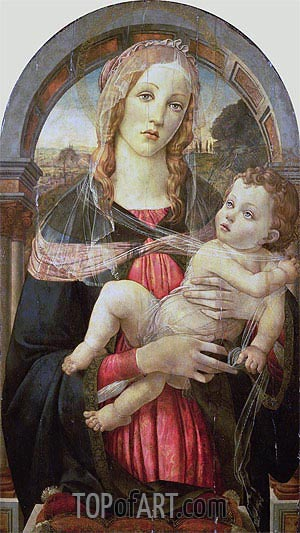 The Virgin and Child,  | Botticelli| Painting Reproduction