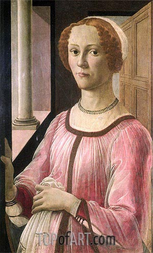 Portrait of Smeralda Bandinelli, c.1471 | Botticelli| Painting Reproduction