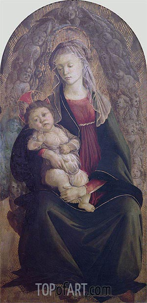 Madonna and Child in Glory,  | Botticelli | Gemälde Reproduktion
