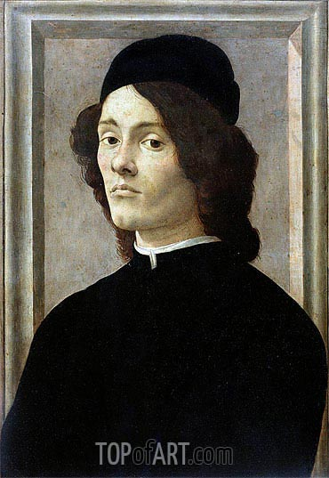 Portrait of a Man, 1472 | Botticelli| Gemälde Reproduktion