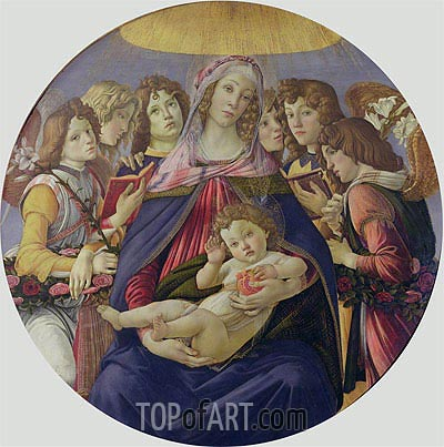 The Madonna of the Pomegranate, c.1478/79 | Botticelli | Painting Reproduction