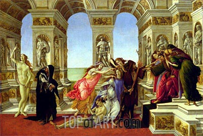 Calumny of Apelles, c.1497/98 | Botticelli | Painting Reproduction