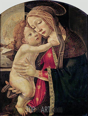 The Virgin and Child, c.1500 | Botticelli | Gemälde Reproduktion