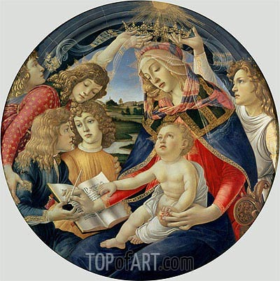 Madonna of the Magnificat, 1482 | Botticelli| Painting Reproduction