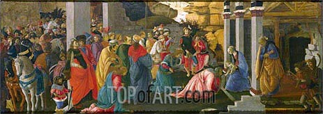 The Adoration of the Kings, c.1470 | Botticelli | Painting Reproduction