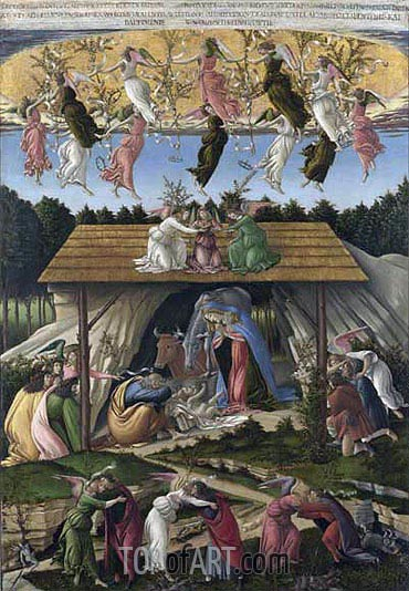 Mystic Nativity, 1500 | Botticelli | Painting Reproduction