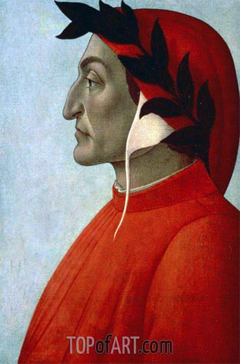 Botticelli | Portrait of Dante, undated