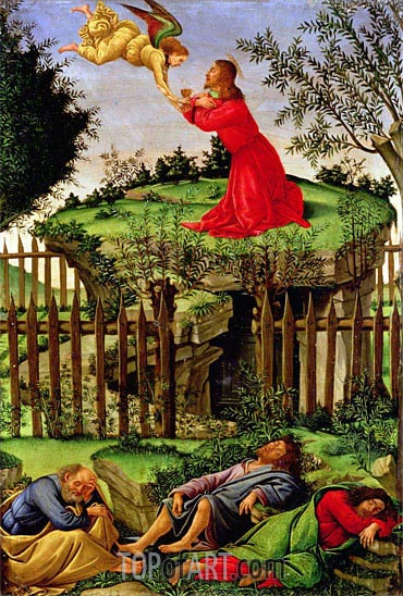 Botticelli | The Agony in the Garden, c.1500