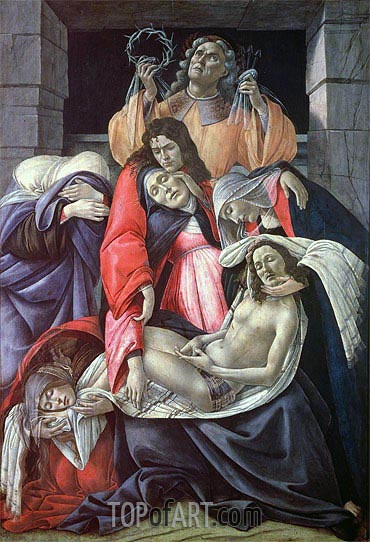 Lamentation over the Dead Christ, c.1490/00 | Botticelli| Painting Reproduction