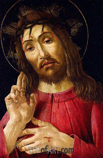 The Resurrected Christ, c.1480 | Botticelli | Painting Reproduction