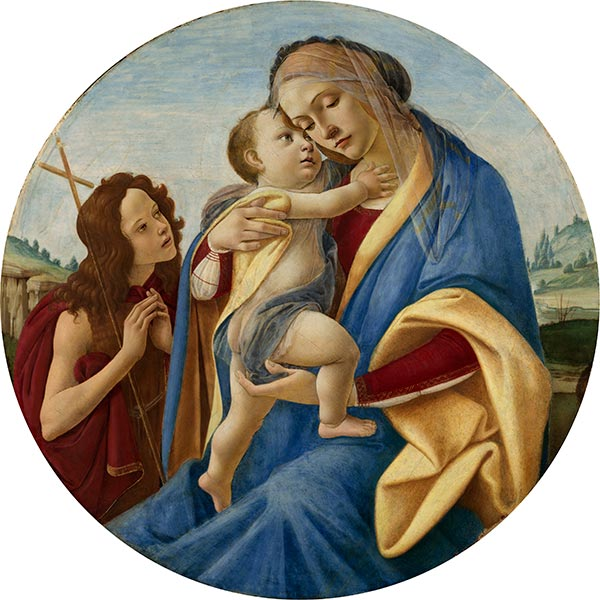 Botticelli | Virgin and Child with the Young John the Baptist, c.1490