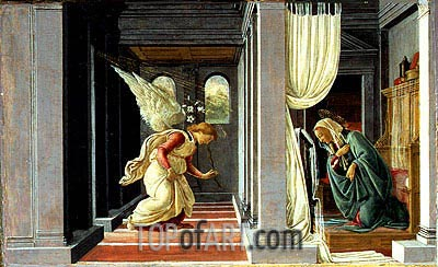 The Annunciation, c.1485 | Botticelli | Painting Reproduction