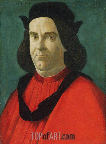 Portrait of Lorenzo de' Lorenzi, c.1492 | Botticelli| Painting Reproduction