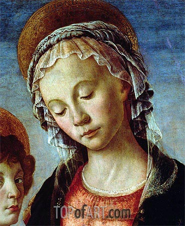 Madonna and Child (Detail), c.1470 | Botticelli | Painting Reproduction