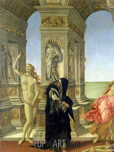 The Calumny of Apelles (Detail), c.1497/98 | Botticelli| Painting Reproduction