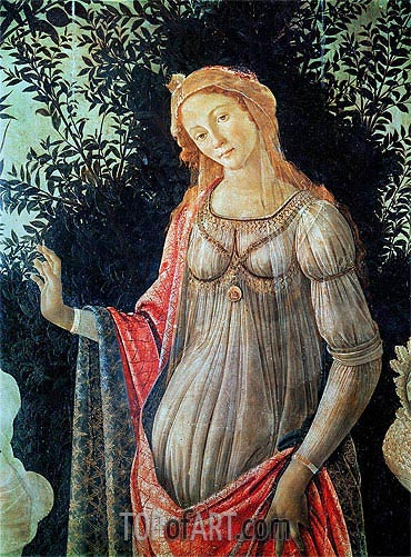 Primavera (Detail), c.1478 | Botticelli| Painting Reproduction