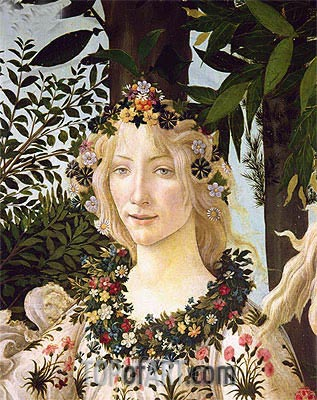 Botticelli | Flora (detail from the Primavera) , c.1478