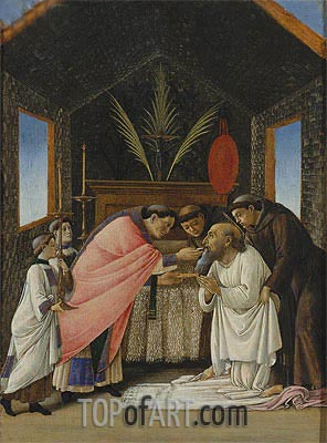 The Last Communion of Saint Jerome, c.1490/95 | Botticelli | Painting Reproduction