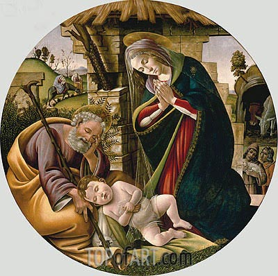 Adoration of the Christ Child, c.1500 | Botticelli | Painting Reproduction