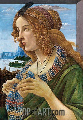 Allegorical Portrait of a Woman (Simonetta Vespucci),  | Botticelli| Gemälde Reproduktion