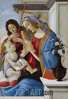 Virgin and Child with Saint John the Baptist, c.1500 | Botticelli | Gemälde Reproduktion
