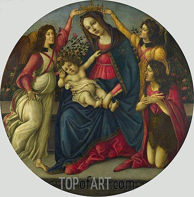 Botticelli | The Virgin and Child with Saint John and Two Angels, c.1490/00