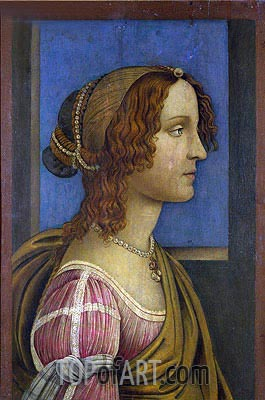 A Lady in Profile, c.1490 | Botticelli | Painting Reproduction