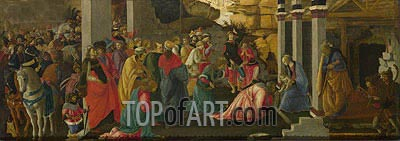 Adoration of the Kings, c.1470 | Botticelli | Painting Reproduction