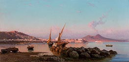 View of the Bay of Naples, 1877 by Alessandro la Volpe | Painting Reproduction