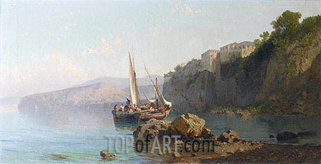 Passage of Roseto, Sorrento, 1878 | Alessandro la Volpe| Painting Reproduction